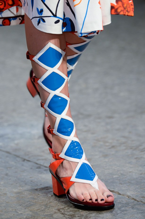 At Antonio Marras, the designer gave the gladiator sandal an update with some diamond details