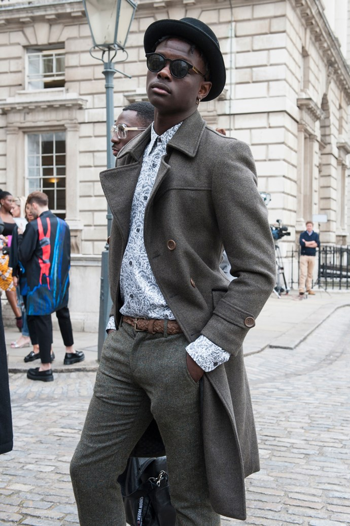 This guy, whose ways with paisley and grey wool should be applauded.