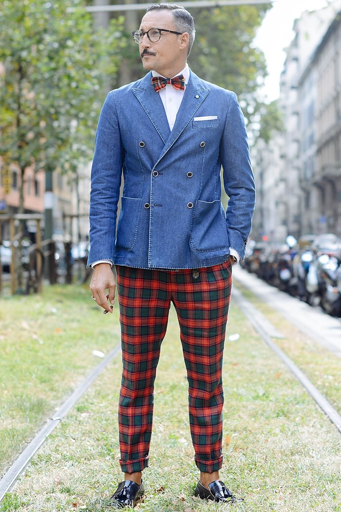 <em>Gentlemen's Wear Daily</em> blogger and bona fide silver fox Fabrizio Oriani.