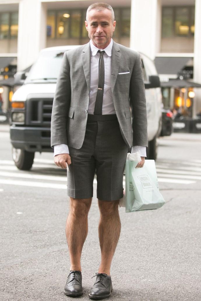 Designer Thom Browne's calves for MVP.
