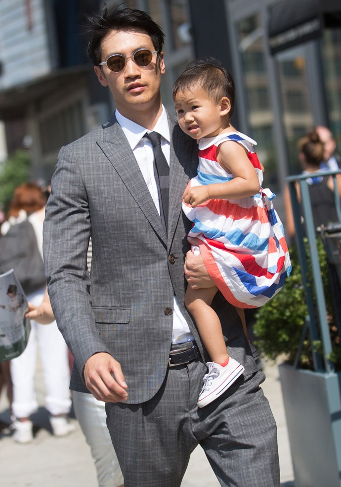 Dad swag, care of model Philip Huang.