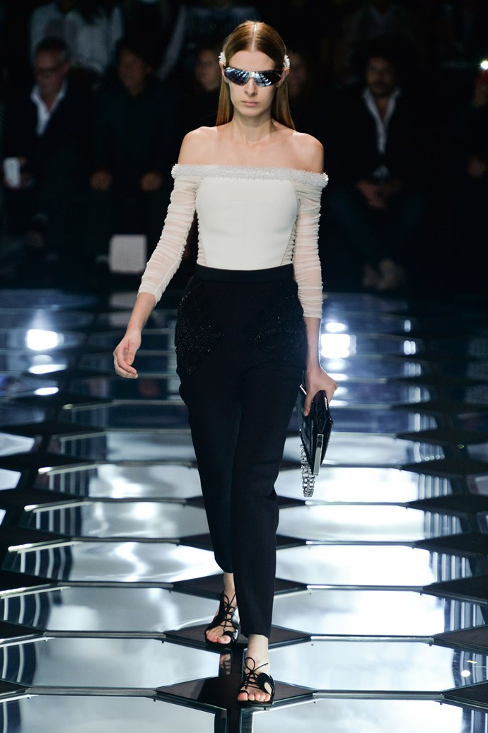 <strong>Designer:</strong> Balenciaga <br> <strong>Collection:</strong> Spring Summer 2015 <br> <strong>Location:</strong> Paris Fashion Week