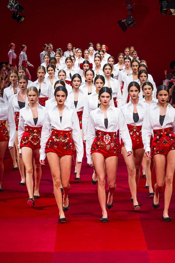 Kendall Jenner leads the pack closing the Dolce & Gabbana show