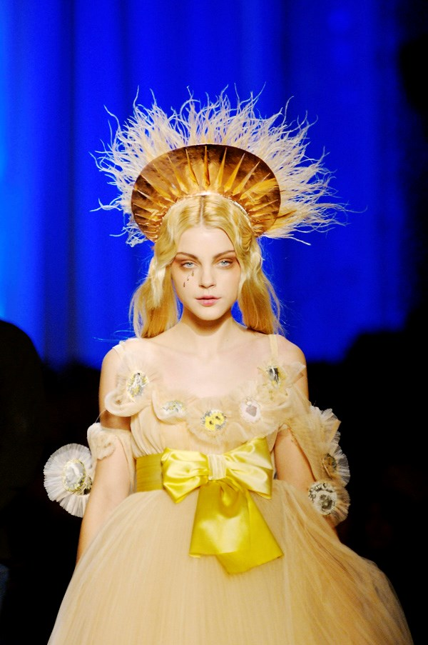 <strong>Modern Day Saints</strong><br><br> Some of Gaultier's most daring looks had religious provocations and drew on the reverence of church icons