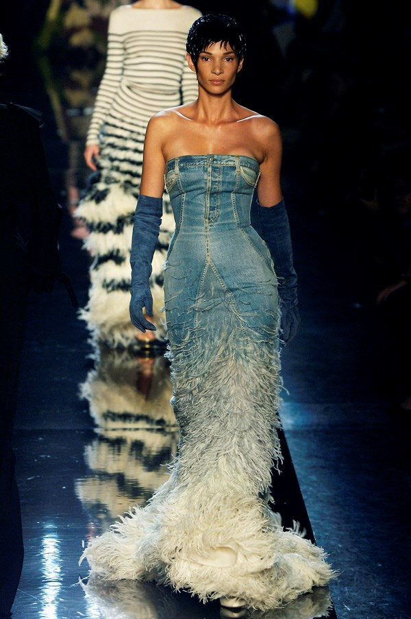 <strong>Denim</strong><br><br> Denim has long been a favourite of the designer, who constantly reappropriated and mixed the fabric with his signature style.