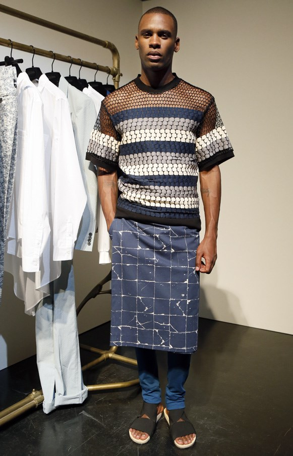<strong>The skirt for men</strong><br><BR> The man skirt made its first appearance at his S/S show in 1985, and has been a hit ever since.