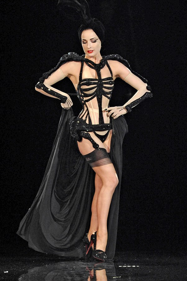 <strong>Skin Deep</strong><br><br> Gaultier had a fascination with the body and liked to play with visuals to do with skin, gender, sexuality, body art and tattoos.