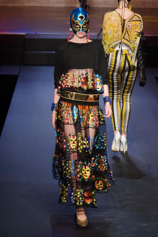 <strong>Designer:</strong> Jean Paul Gaultier <br> <strong>Collection:</strong> Spring Summer 2015 <br> <strong>Location:</strong> Paris Fashion Week