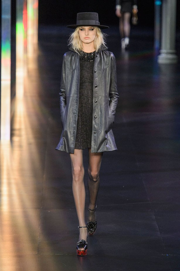 <strong>Designer:</strong> Saint Laurent <br> <strong>Collection:</strong> Spring Summer 2015 <br> <strong>Location:</strong> Paris Fashion Week
