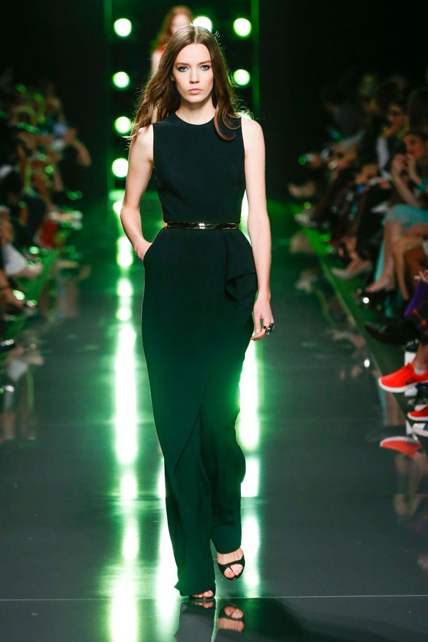 <strong>Designer:</strong> Elie Saab <br> <strong>Collection:</strong> Spring Summer 2015 <br> <strong>Location:</strong> Paris Fashion Week