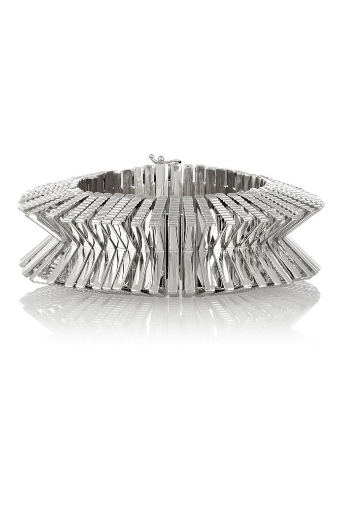 "Bracelet, $292, Eddie Borgo, <a href=""http://www.theoutnet.com/en-AU/product/Eddie-Borgo/Silver-tone-bracelet/500350"">theoutnet.com</a>"