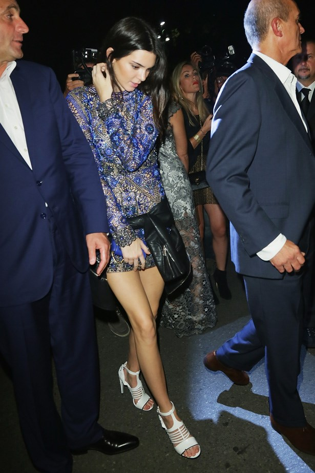 All work and no play makes Kendall a dull girl. Kendall attended <strong>Vogue</strong> Italia's 50th Anniversay party during Milan fashion week.