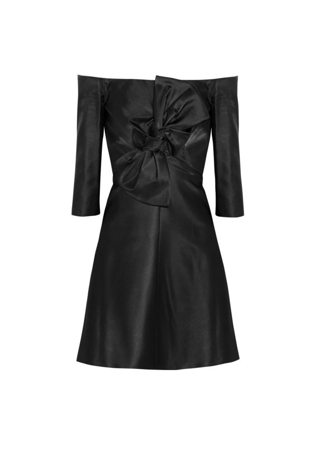 "Dress, approx $700, Carven, <a href=""http://www.net-a-porter.com/product/457437/Carven/bow-embellished-gazar-mini-dress"">netaporter.com</a>"