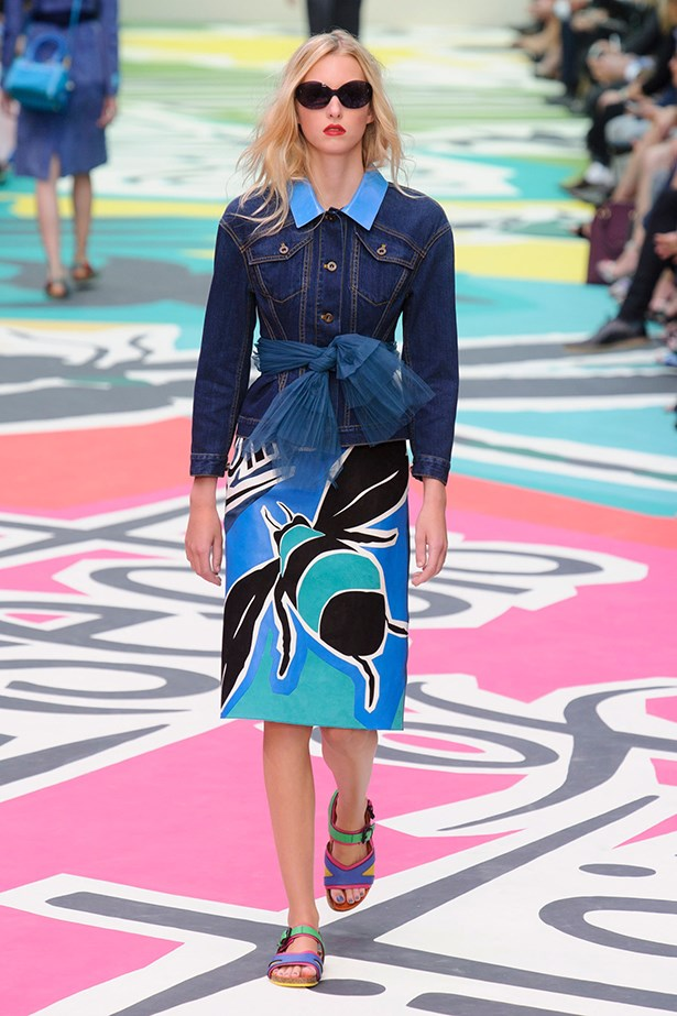 "8.  Forget pineapples. The motif du jour for SS15 is animal inspired, with Christopher Bailey sending bug, bird and reptile-adorned pieces down <a href=""http://www.elle.com.au/runway/ready-to-wear/ss15/2014/9/burberry-prorsum-ss15/"">the Burberry runway</a>. Wild."