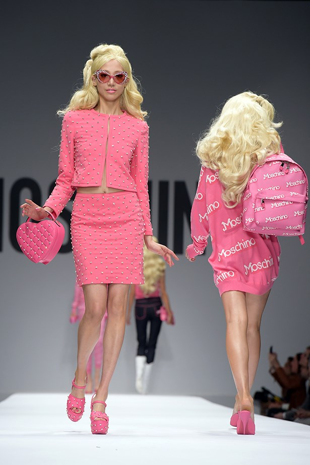 "6. Barbie enjoyed a moment, playing muse to Moschino's <a href=""ttp://www.elle.com.au/runway/ready-to-wear/ss15/2014/9/moschino-ss15/"">entire SS15 collection</a>."