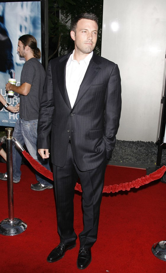 Ben Affleck at the red carpet premiere of 'The Bourne Ultimatum' in 2007