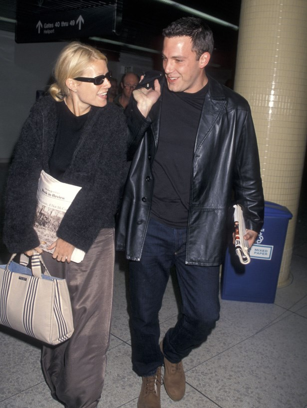 Ben Affleck and Gwyneth Paltrow arriving at Los Angeles International Airport in 1998