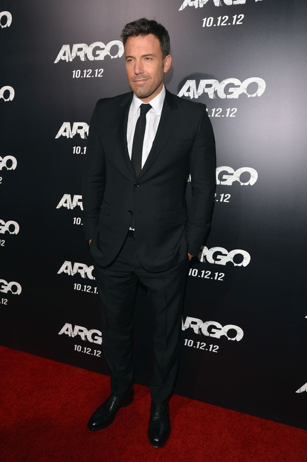 Ben Affleck at the red carpet premiere of 'Argo' in 2012