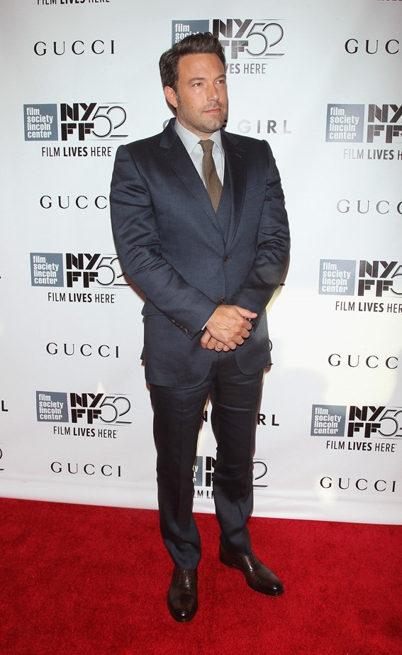 Ben Affleck at the red carpet premiere of 'Gone Girl' in 2014