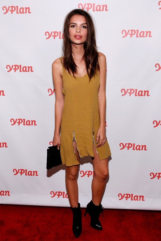 Emily Ratajkowski at the New York launch of <em>YPlan</em> wearing Stone Cold Fox