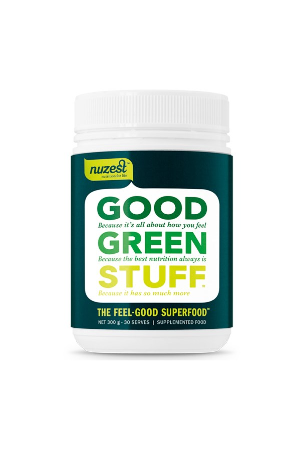 """""""With over 75 ingredients, including pre and probiotics, I feel smug taking this all natural supplement with water every morning. Honestly? The flavour isn't great, but I do notice a difference in both energy levels and my skin when I drink-up daily."""" Alison, digital contributor. Good Green Stuff, $79.95, <a href=""""http://www.nuzest.com.au/shop/good-green-stuff-300g"""">Nuzest.com.au</a>"""