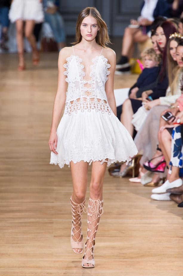 "Chloé  <BR> ""From start to finish, the '70s bohemian vibe of the Chloé show made my inner hippie very happy. The opening broderie anglaise dress is all I want to wear this summer, plus no one nails that perfectly, imperfect Parisian-girl hair like Chloé. Love."" <BR> Sara McLean, acting beauty editor"