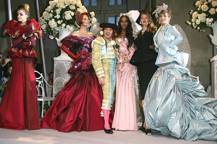 Designing a decade (and more) of Dior couture provides some seriously unbeatable experience <br> <br> <br> (Pictured: Christian Dior couture autumn/winter 2007 show in Versailles Palace celebrating  the designer's 10th year at the French house)
