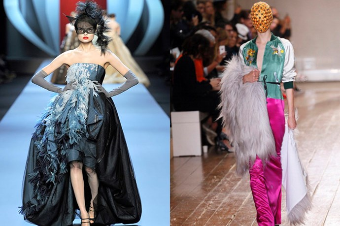 Both enjoy the mystery of covering a woman's face… <br> <br> <br> (Pictured left: Christian Dior couture spring/summer 2011. Pictured right: Maison Martin Margiela couture fall/winter 2014/2015)