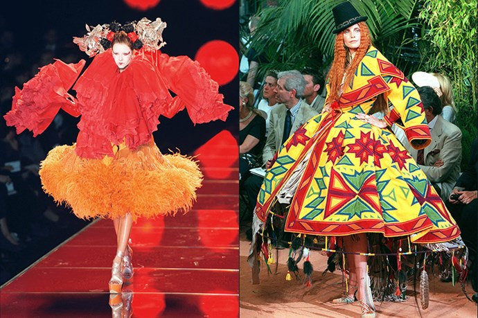 The designer has applied his theatrics to Dior, John Galliano and Givenchy. We can't wait for the show to start at Margiela <br> <br> <br> (Pictured left: Christian Dior couture fall/winter 1998. Pictured right: John Galliano spring/summer 2003)