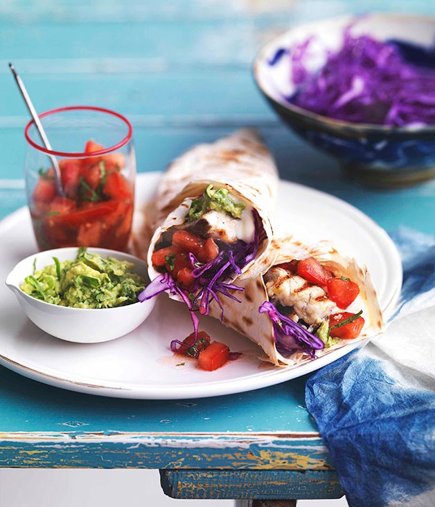 Grilled fish tacos gourmet traveller for Gourmet fish recipes