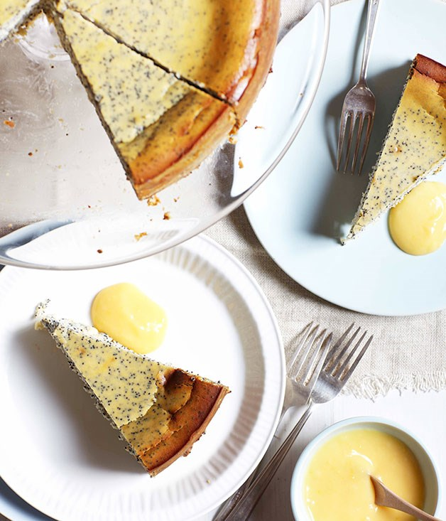 Poppy seed and ricotta cake with lemon curd :: Gourmet Traveller