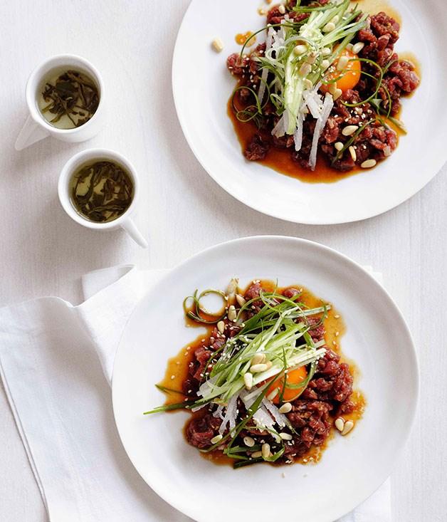 Korean beef tartare :: Gourmet Traveller
