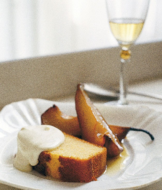 Neil Perry: Olive oil and sauternes cake with roast pears :: Gourmet ...