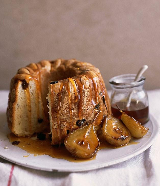 Kugelhopf with honeyed Muscat pears :: Gourmet Traveller