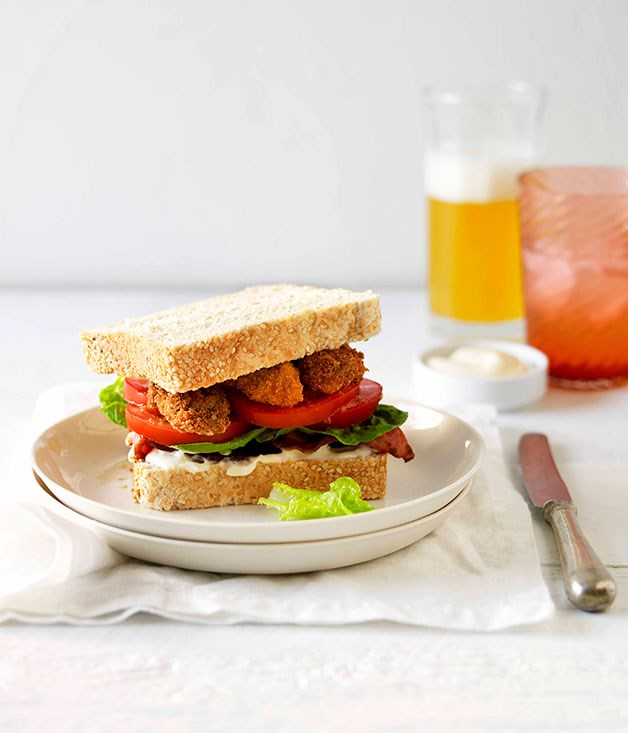Fried oyster and bacon sandwiches with chilli mayonnaise :: Gourmet ...