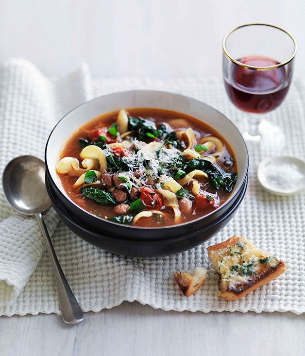 Bean, cavolo nero and pasta soup :: Gourmet Traveller