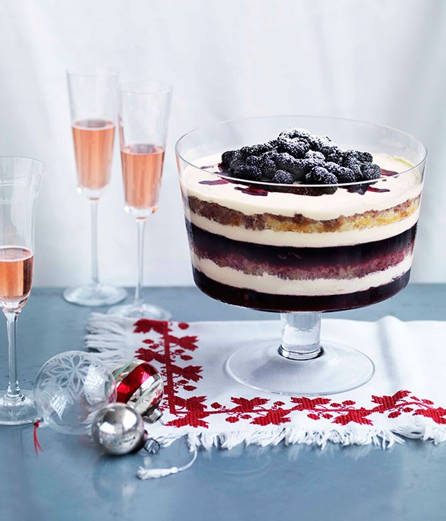 Dark Berry Trifle :: Gourmet Traveller