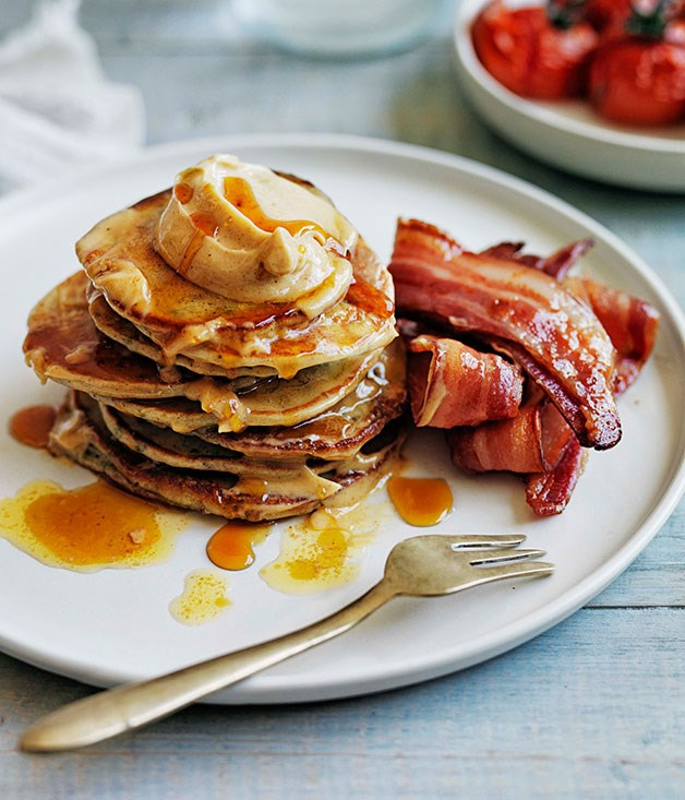 pancake and bacon breakfast - photo #28