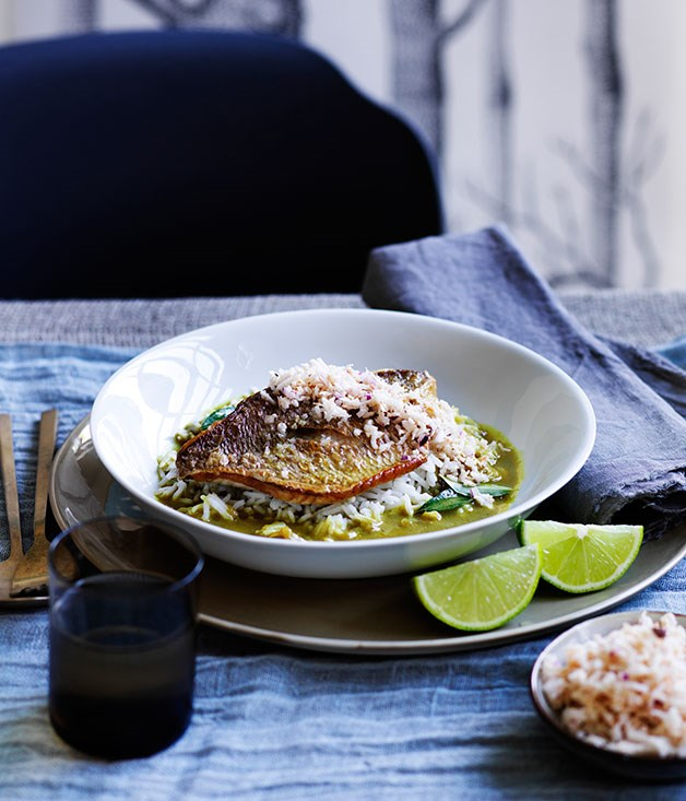 Fish curry with coconut sambal recipe gourmet traveller for Gourmet fish recipes