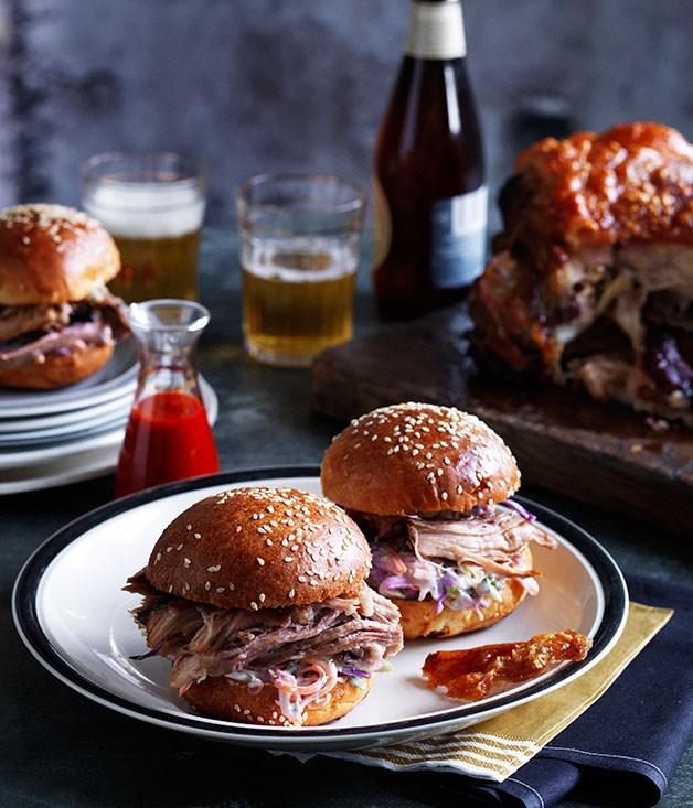Slow-roasted pork shoulder rolls recipe | Colin Fassnidge recipe ...