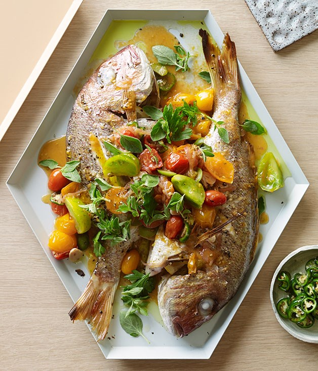 Snapper veracruz recipe fast seafood recipe gourmet for Gourmet fish recipes