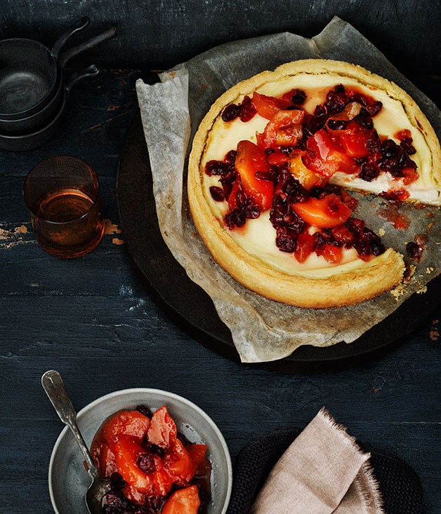 Quince and cranberry compote and ricotta tart recipe :: Gourmet ...
