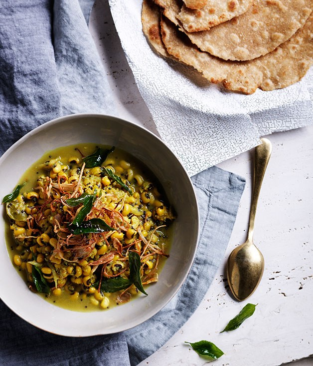 Black-eyed pea curry with crisp shallots and curry leaves recipe ...