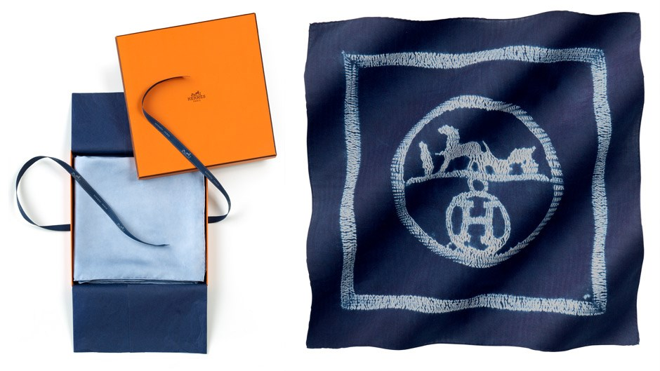 herme bags - Hermes denim-inspired print scarves : Harper's BAZAAR