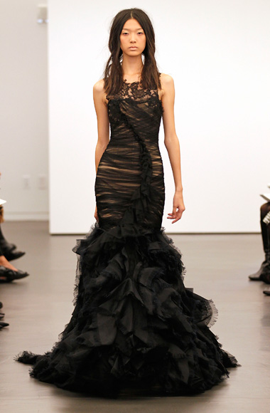 Vera Wang's black wedding dresses: a