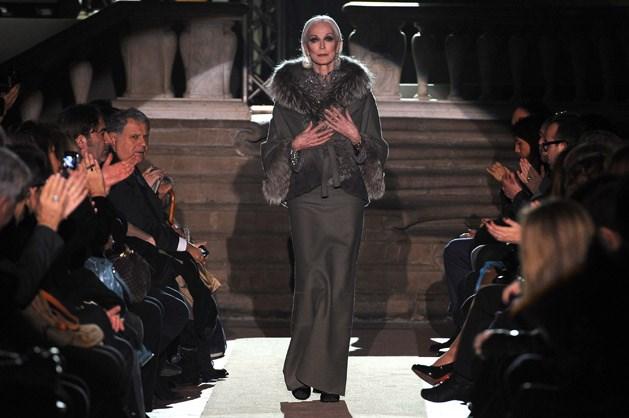 Dell'Orefice walked the runway for Italian designer Alberta Ferretti, in January 2011.
