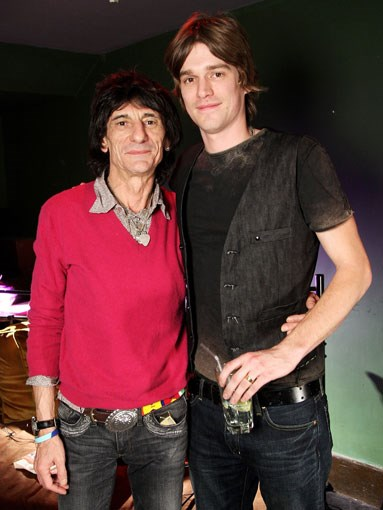 Rolling Stone Ronnie Wood, with son Jesse