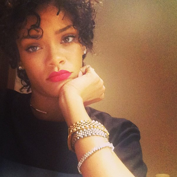 Short and sweet. Rihanna's latest addition to her hair-folio, August 2013.