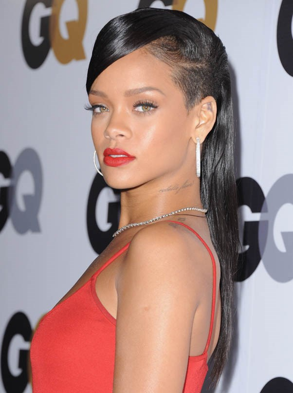 And side-shaved at GQ Man of the Year Party, November 2012.