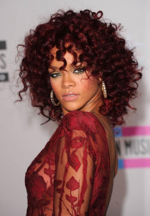 Red ringlets at the American Music Awards, November 2010.